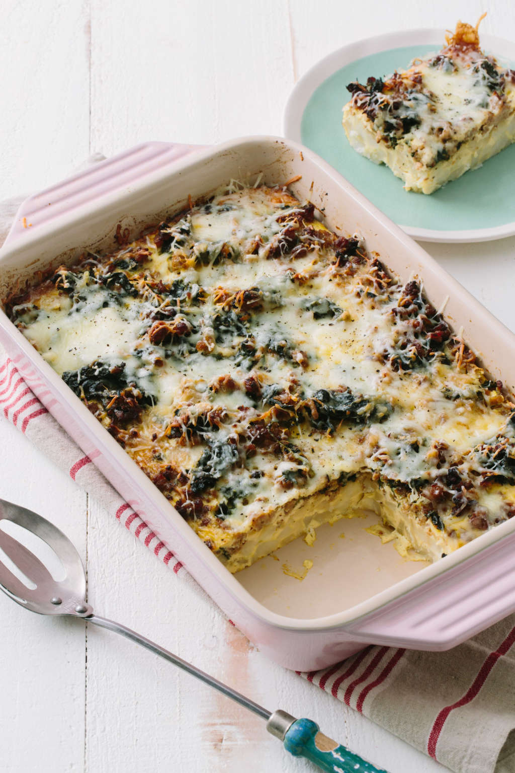 A Sausage & Greens Breakfast Casserole Almost Everyone Loves