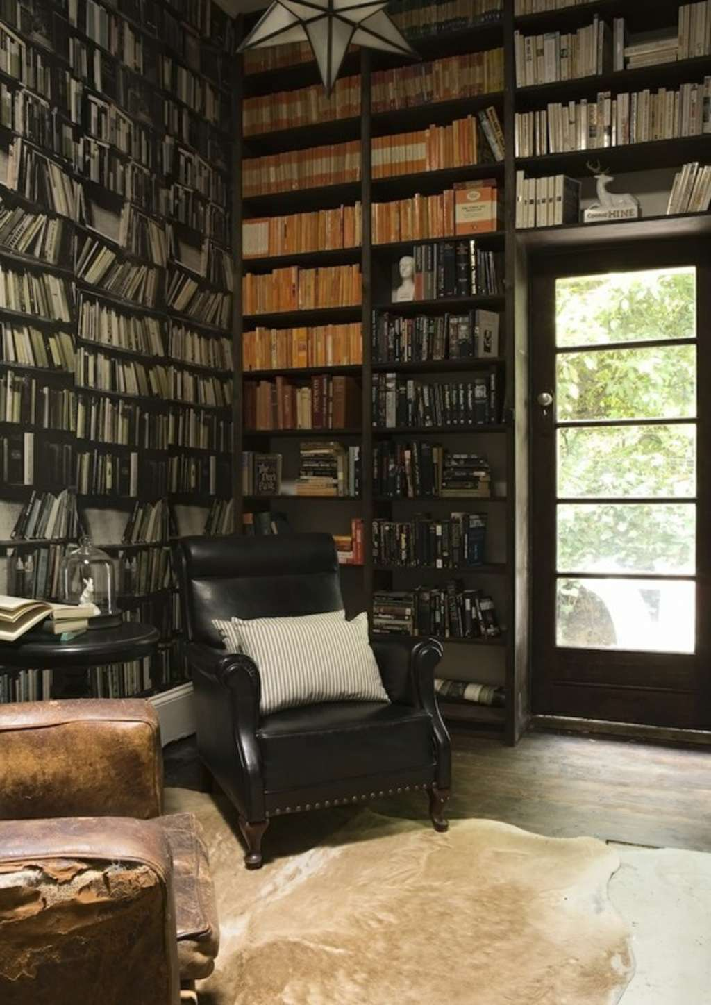 28 Dreamy Home Offices With Libraries For Creative Inspiration: Dark (But Definitely Not Dreary) Home Libraries