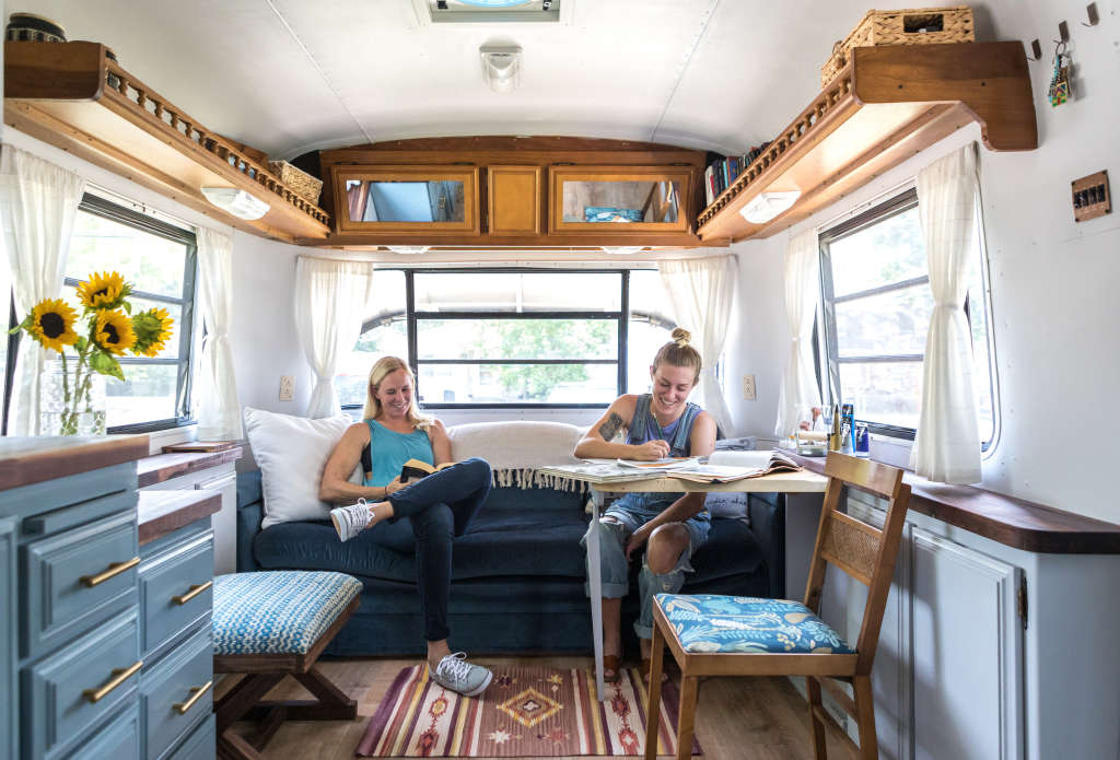 This Remodeled RV Is a Cute Bohemian Bungalow on Wheels