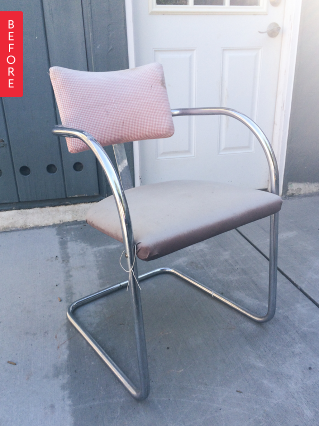 Before & After: A Free Chair Gets a Feathered Makeover