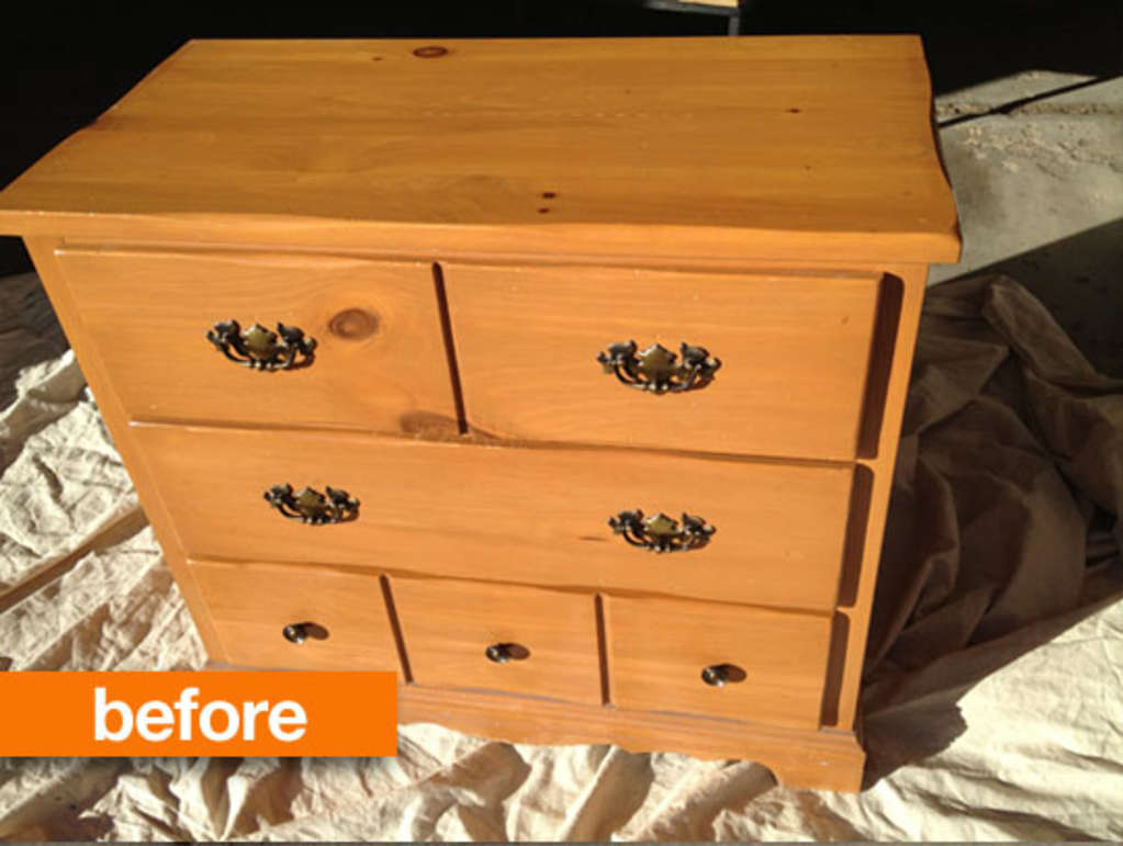 Before & After: Claire's Childhood Dresser Grows Up