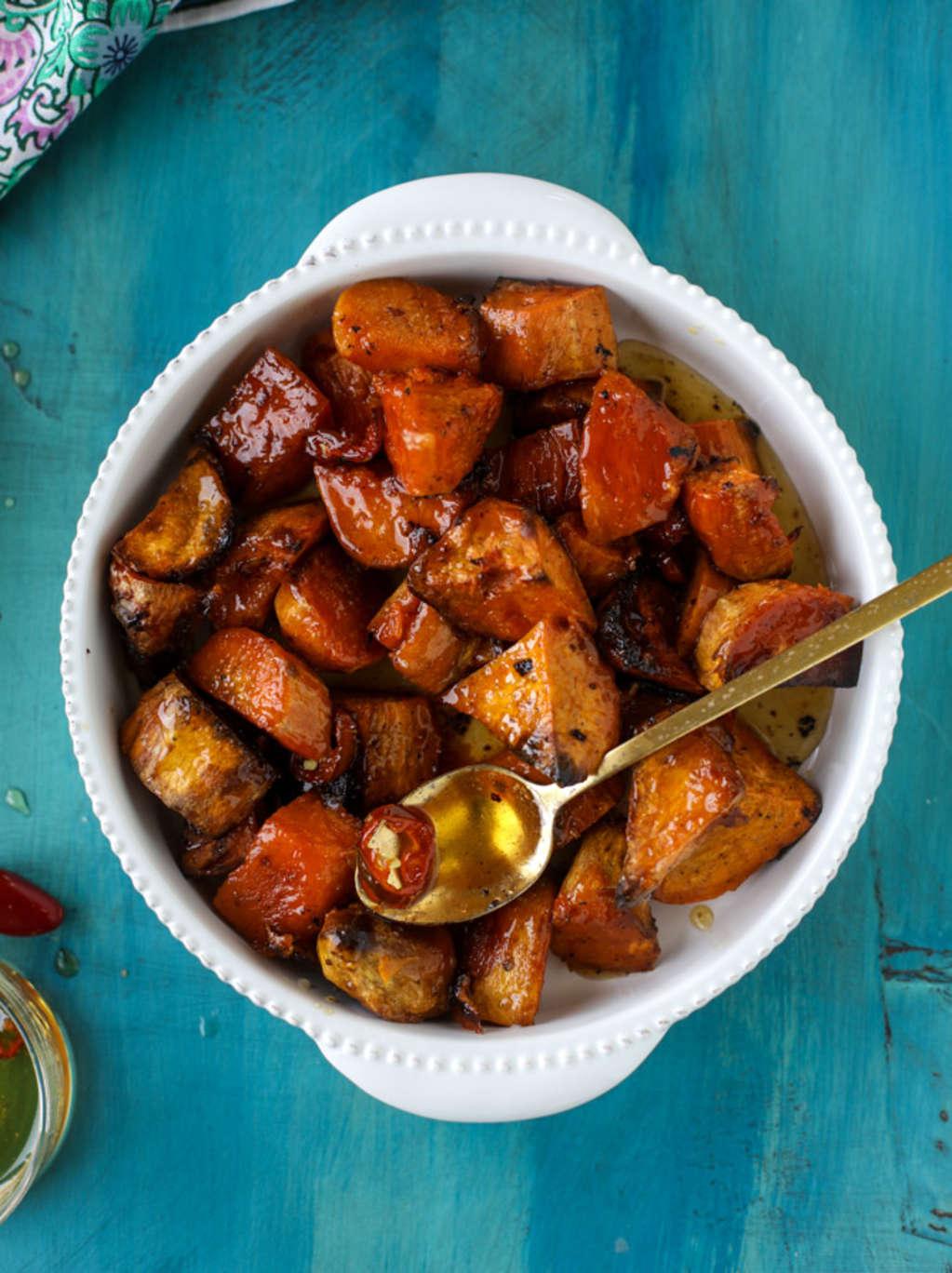 These Hot Honey Sweet Potatoes Will Win Friendsgiving