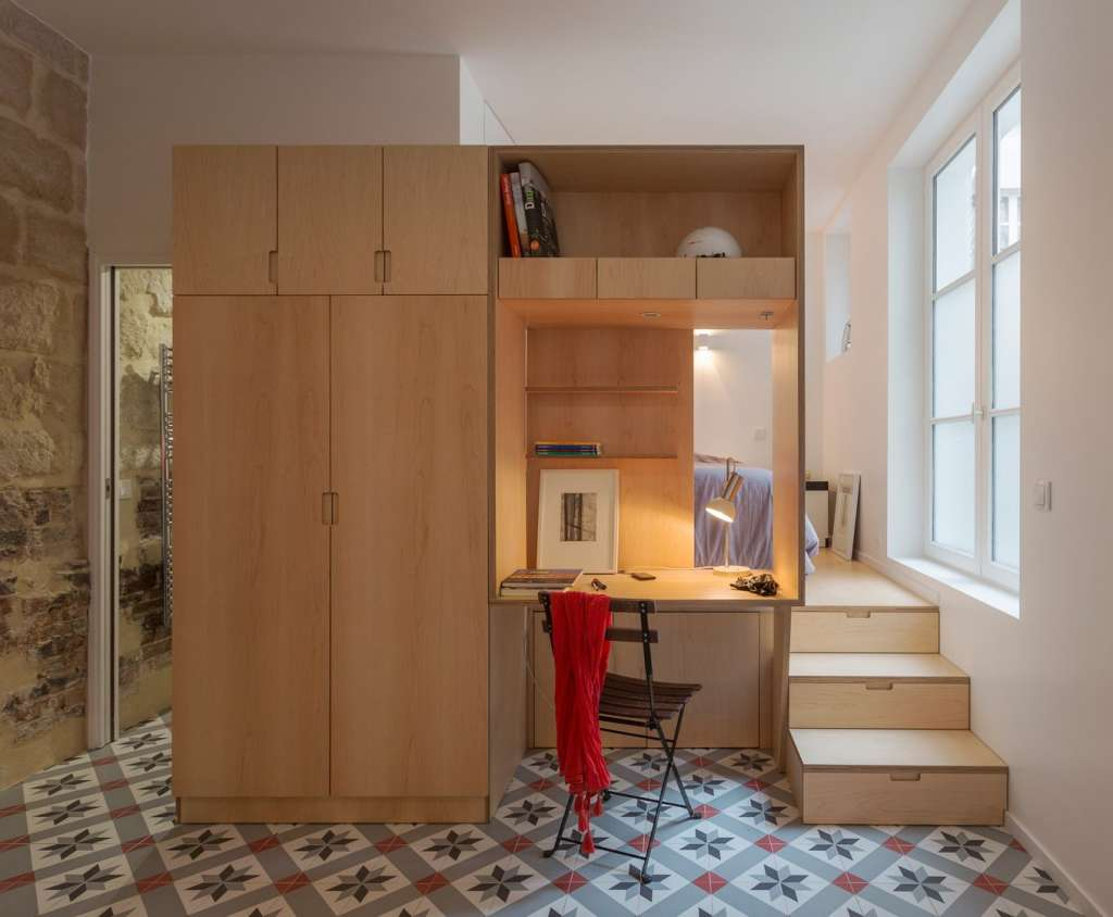 A Tiny Paris Apartment with a Subterranean Surprise
