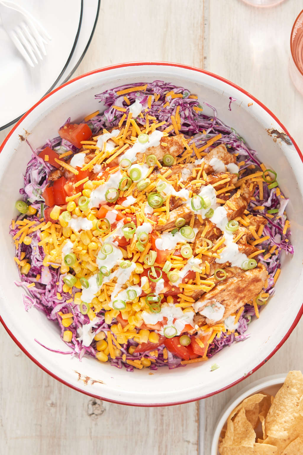 This Party-Ready BBQ Chicken Chopped Salad Is Wilt-Proof