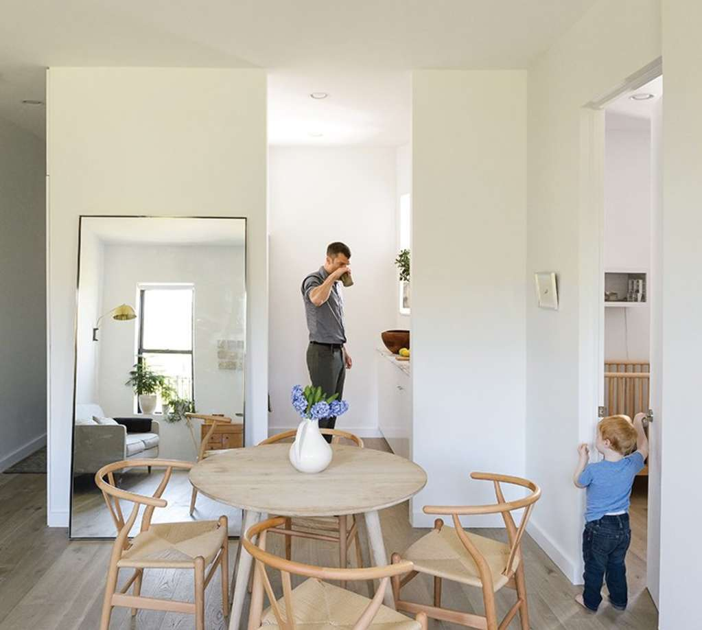 How a Family of 3 Lives in 675 Square Feet