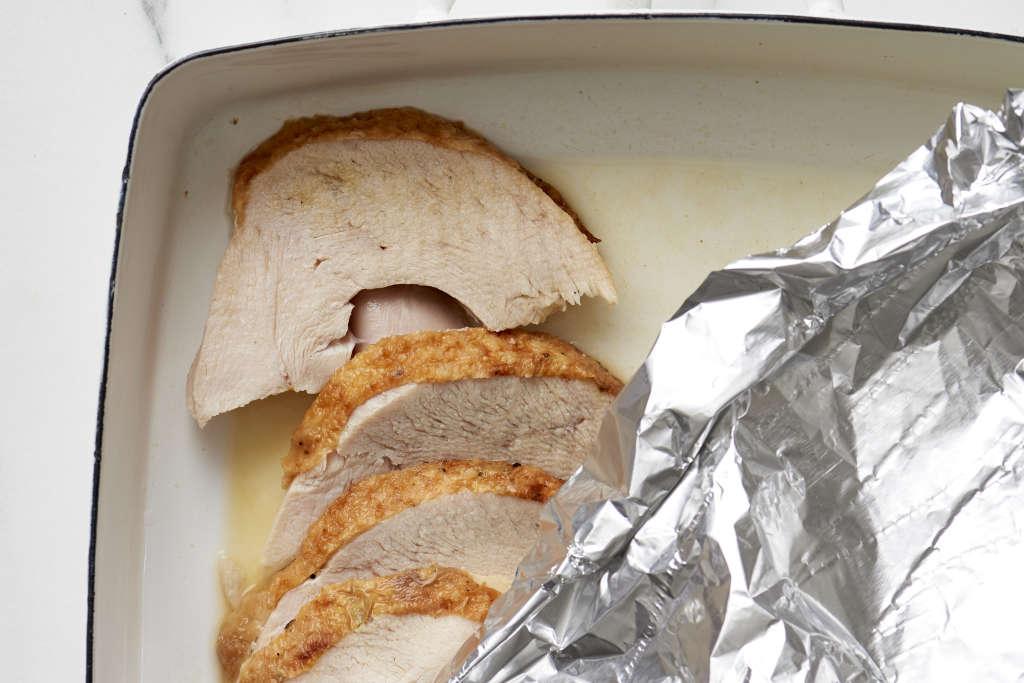How To Reheat Thanksgiving Turkey So It's Tender & Juicy