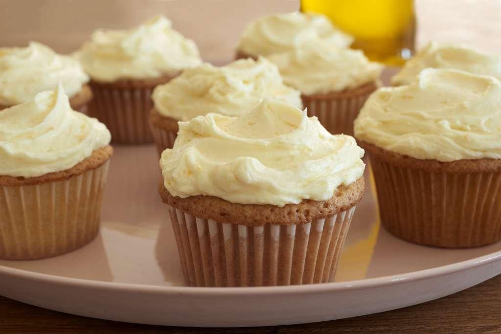 Recipe: Orange Olive Oil Cupcakes with Honey Buttercream