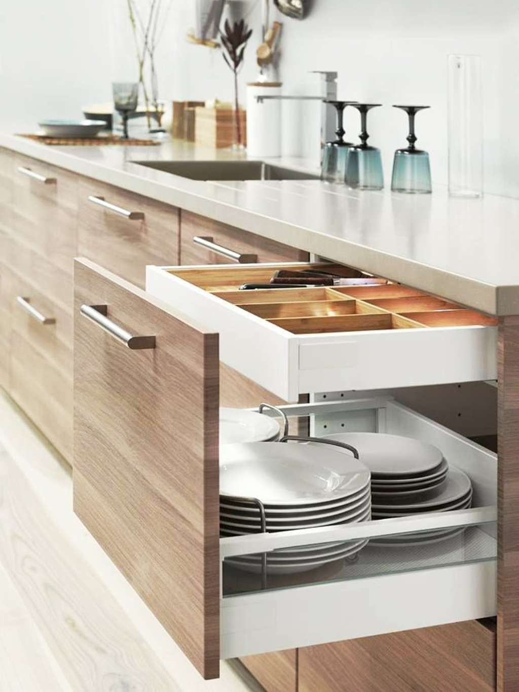 A Happier Kitchen With $100 or Less: The Ultimate IKEA Cabinet Organizer Shopping List