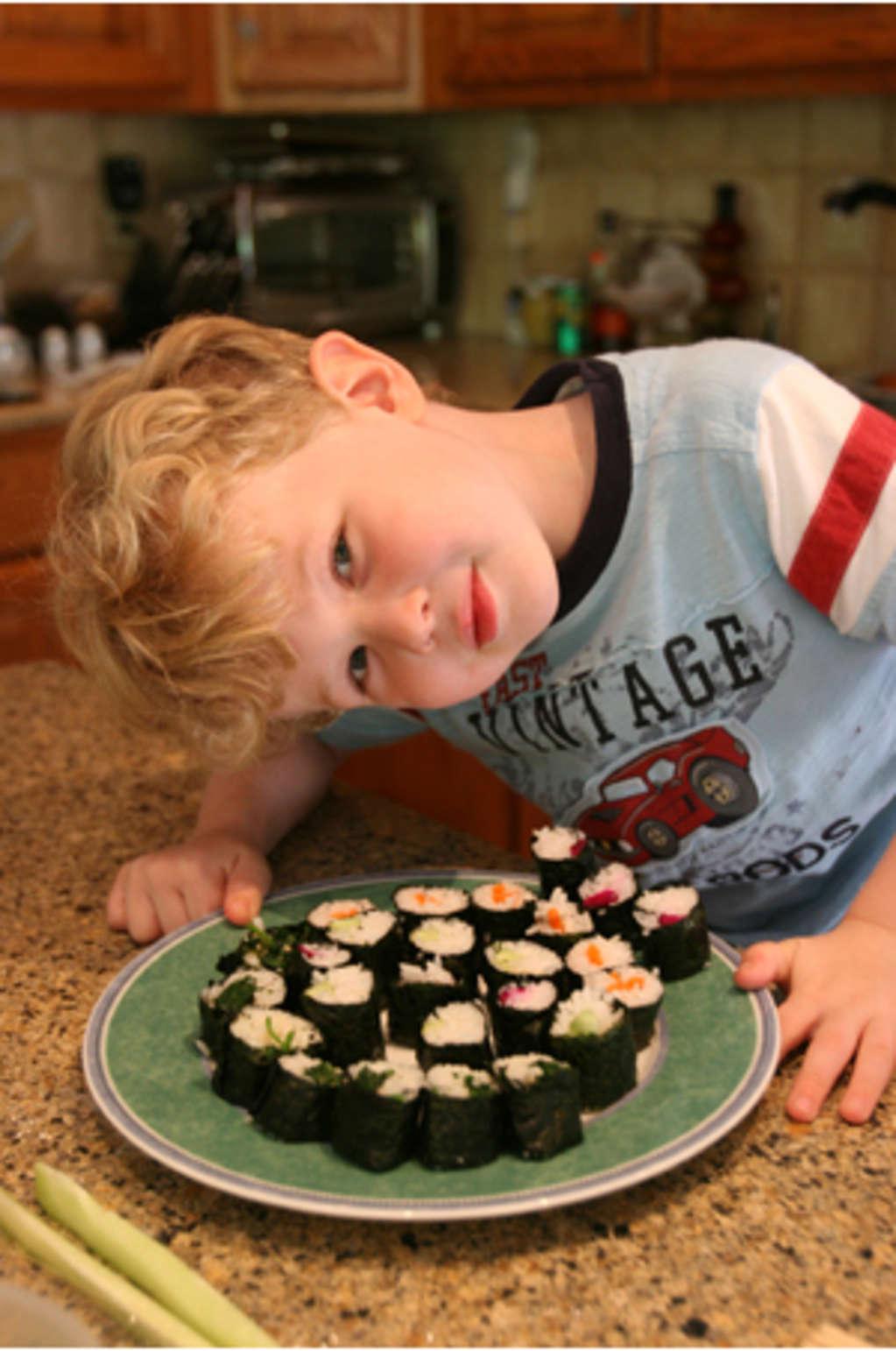 Summer Project: Make Vegetable Maki Sushi With Kids! | Kitchn