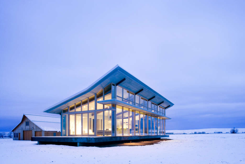 An Isolated Glass Farmhouse, No Curtains Required