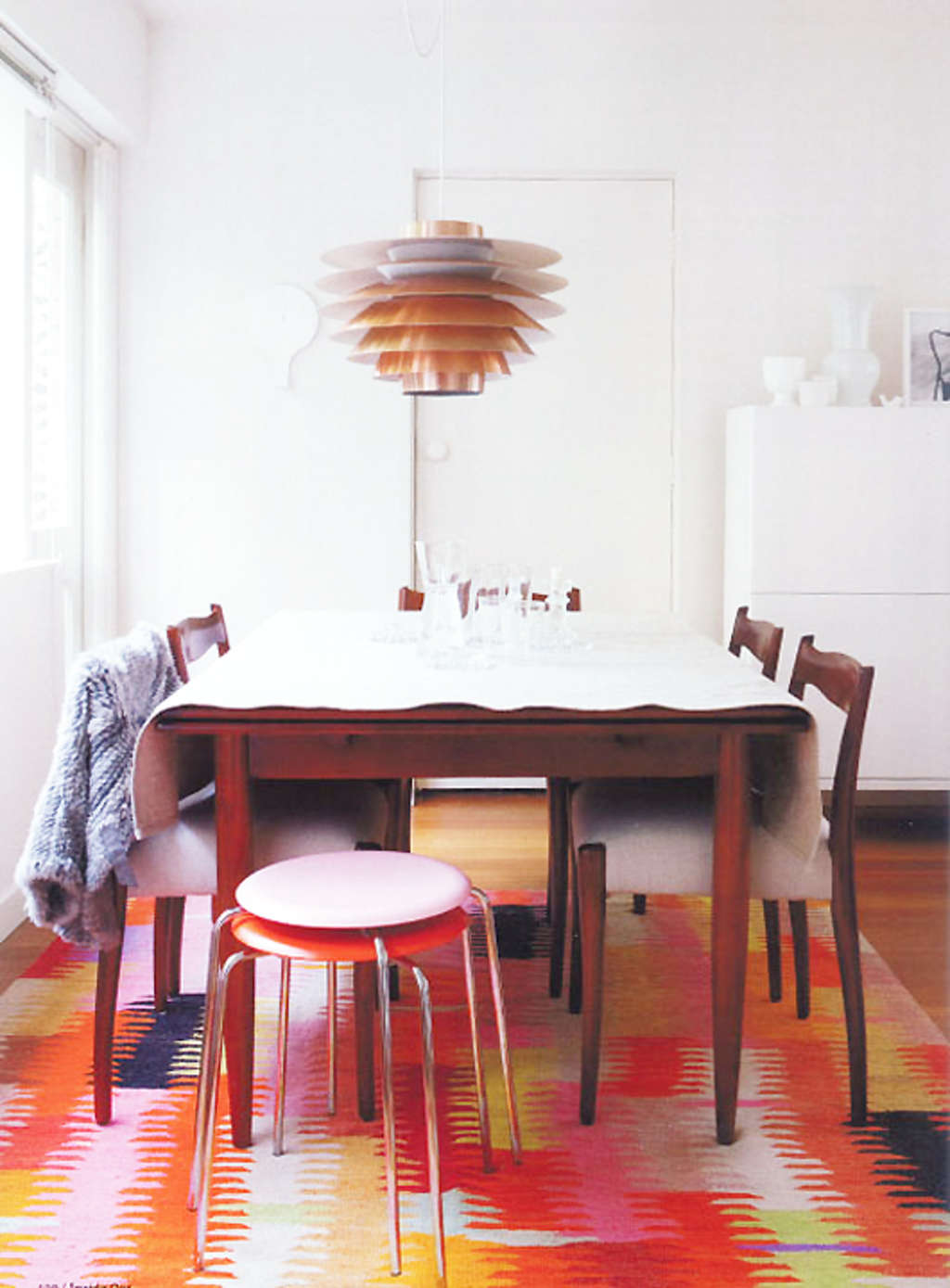 Look A Super Bright Amp Colorful Dining Room Rug Kitchn