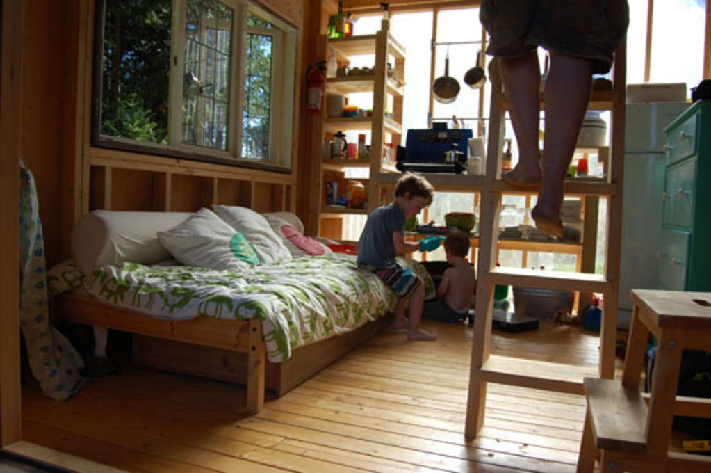 Four People (and a Dog) Living in 180 Square Feet