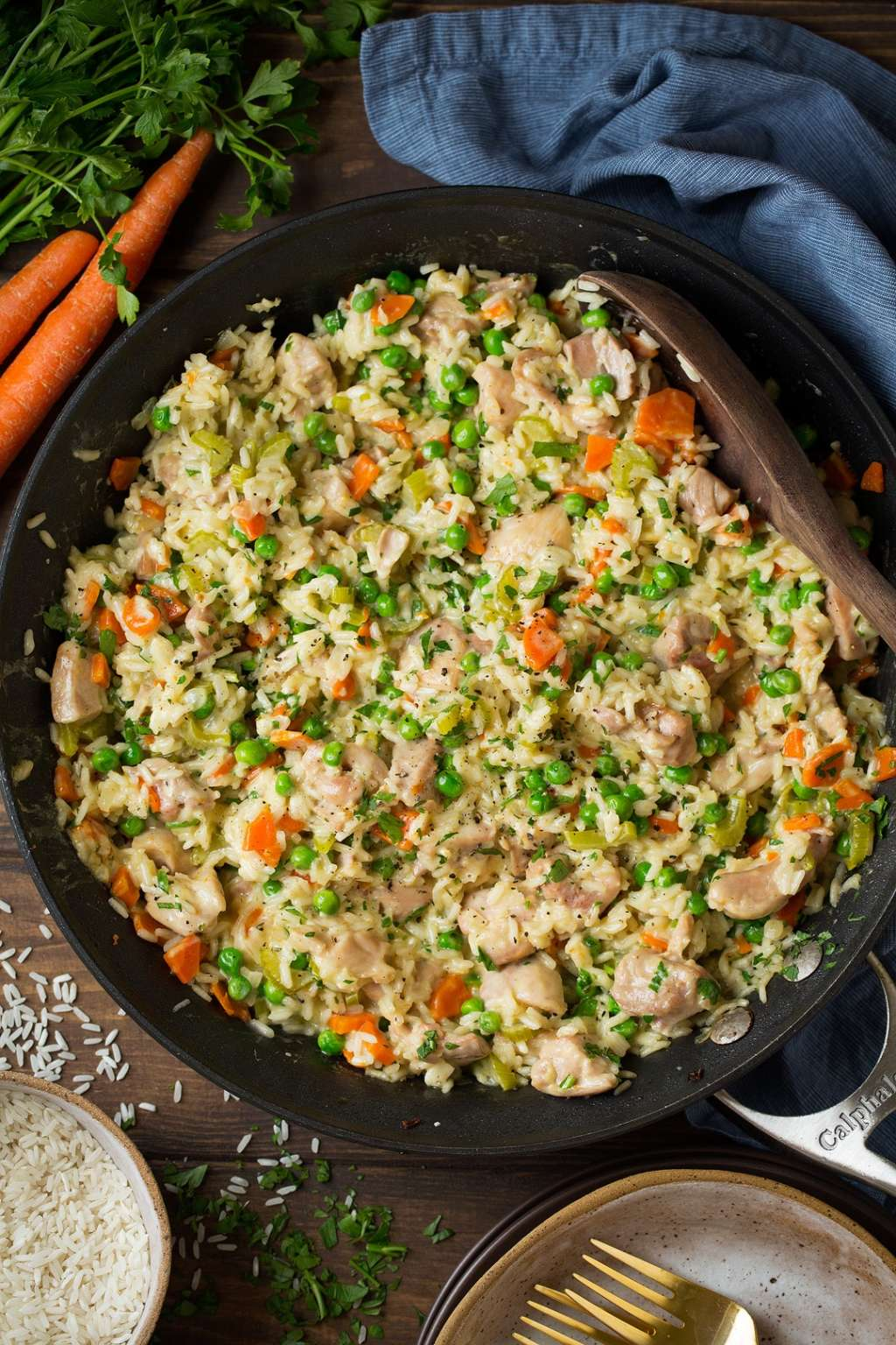This One-Pan Creamy Chicken & Rice Is a Total Crowd-Pleaser