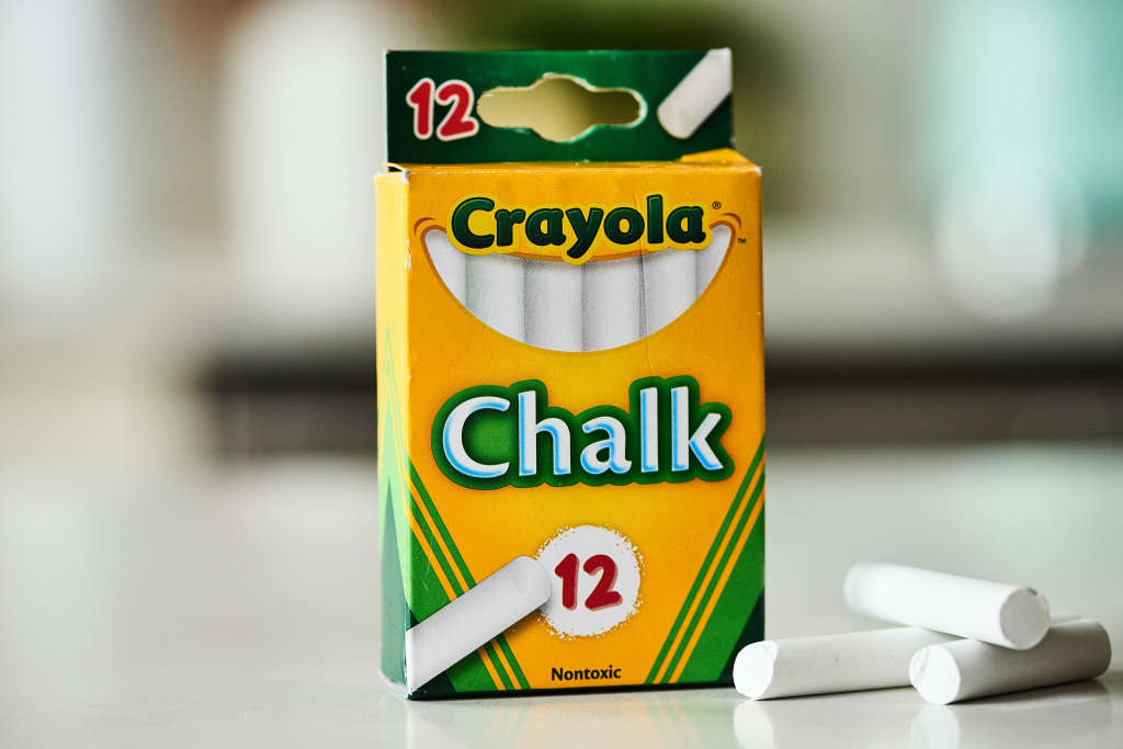 If You Ever Spill While Cooking, Keep Chalk in the Kitchen