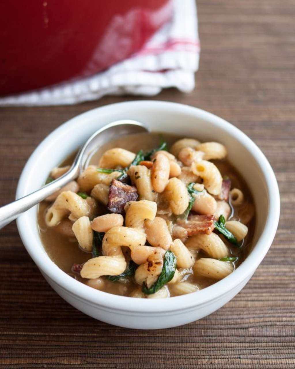 One-Pot Pasta e Fagioli, Pumpkin Chili, Soft Pretzels, Beer Cheese Soup, Chile Verde & How to Caramelize Onions