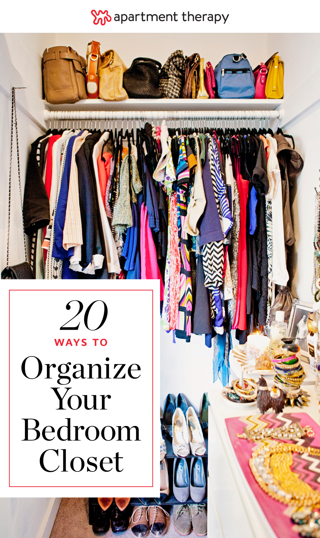 20 ideas for organizing your bedroom closet apartment - Best way to organize bedroom furniture ...