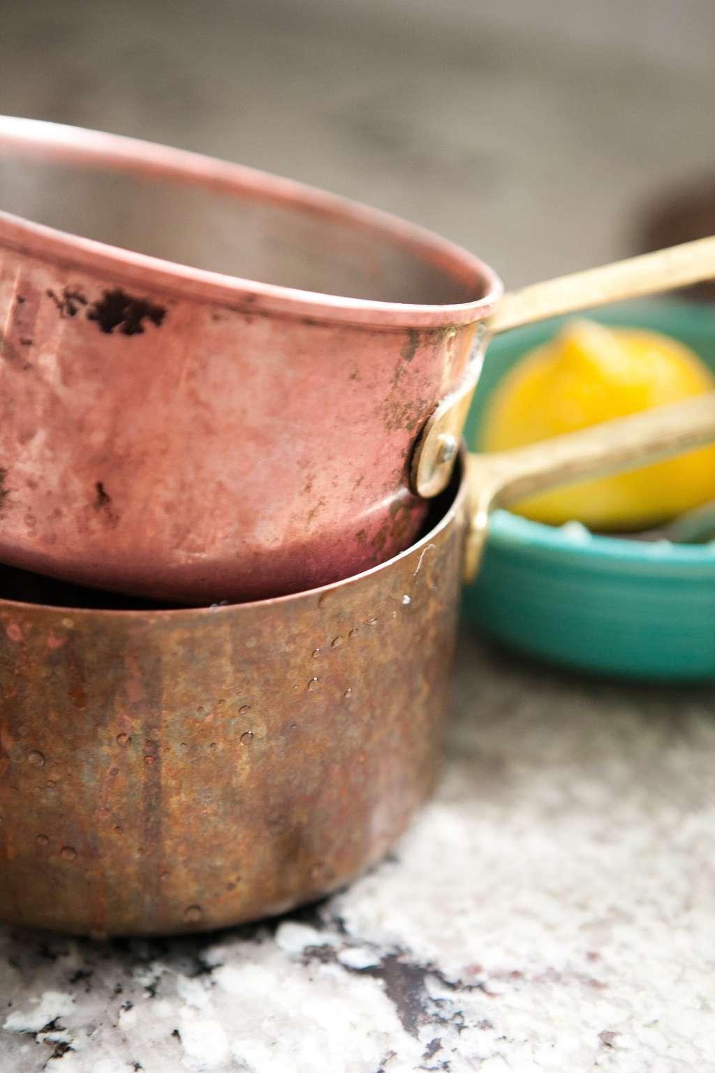 how to clean copper pots pans kitchn. Black Bedroom Furniture Sets. Home Design Ideas