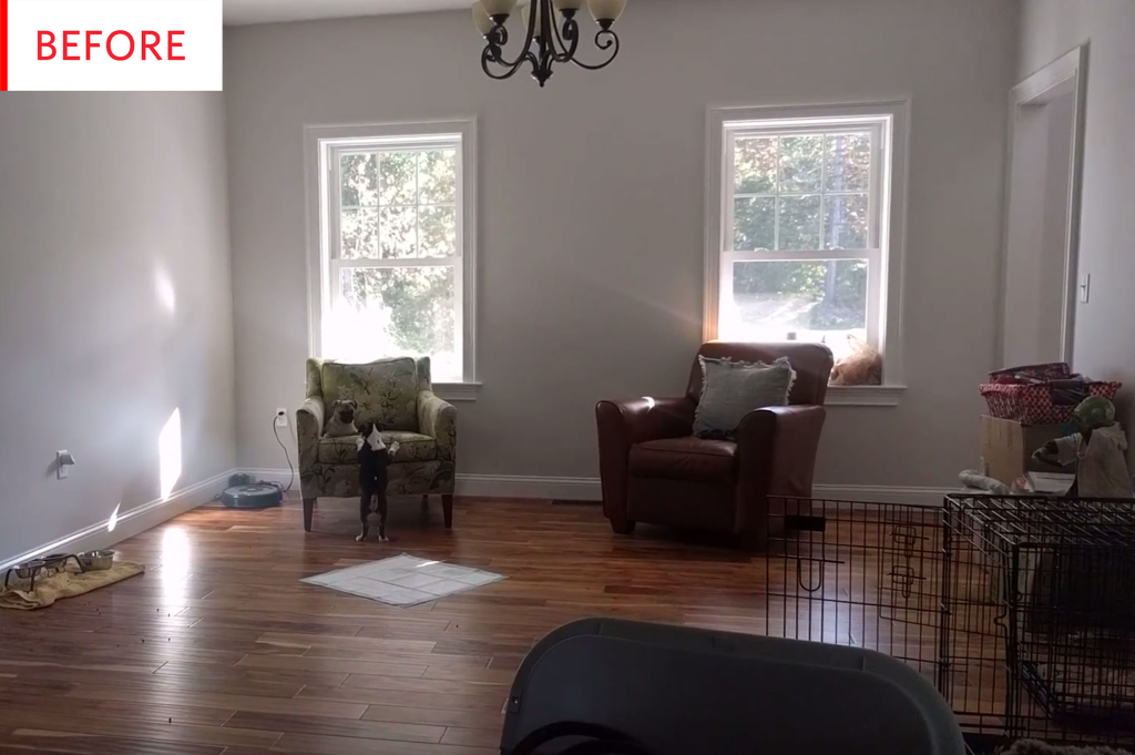 This Living Room's New Bookshelves Have a Built-In Surprise