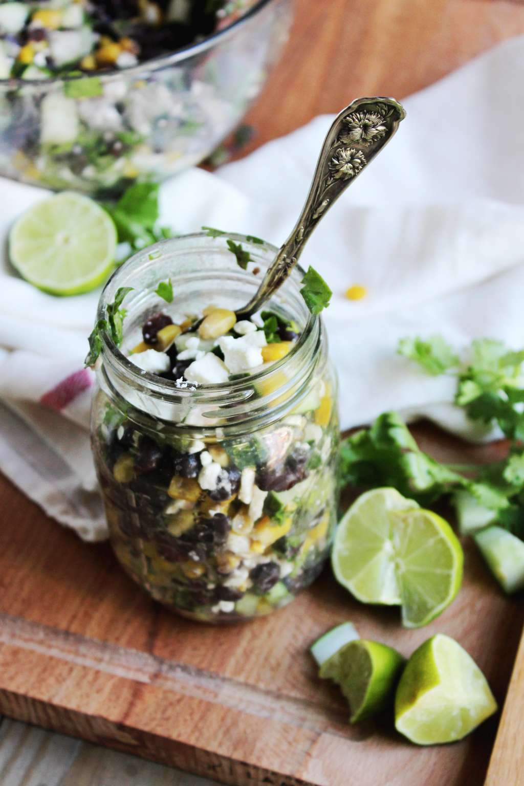 Recipe: Chilled Black Bean, Feta & Cucumber Salad