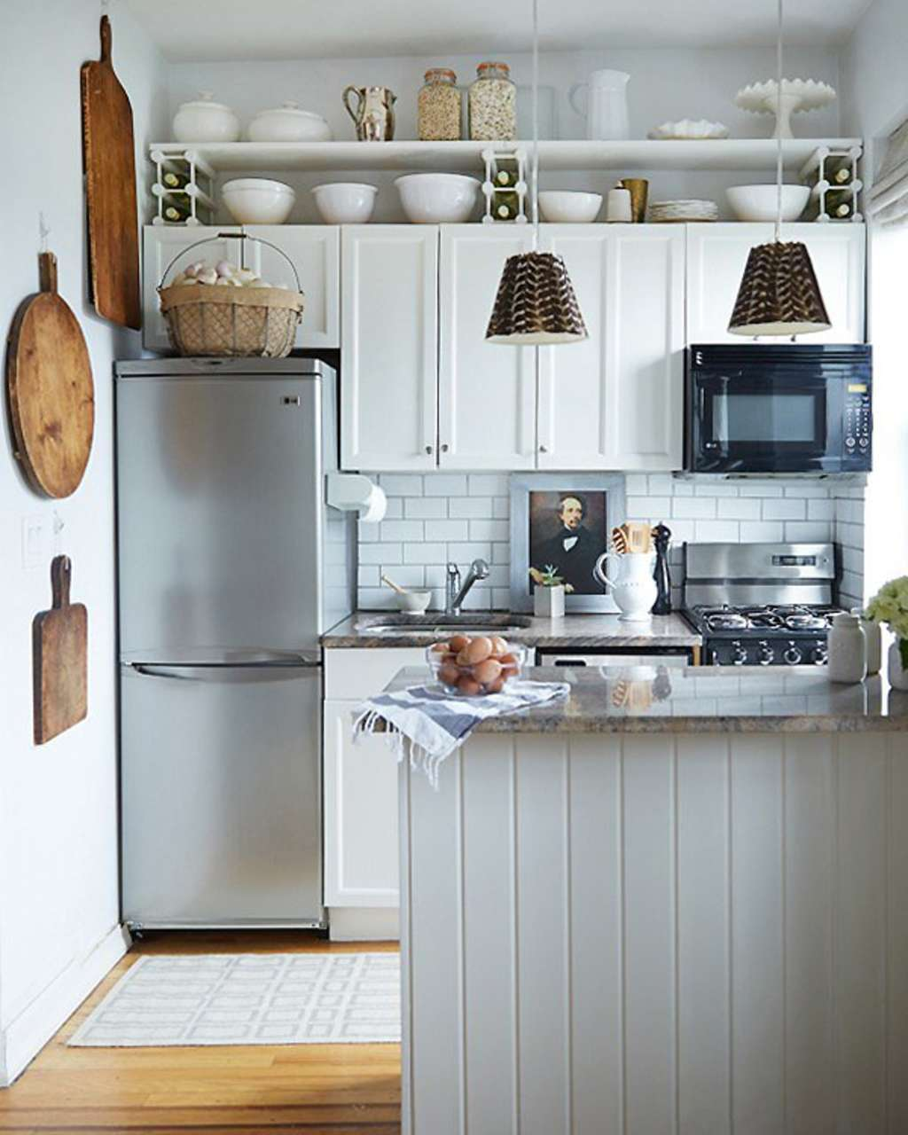 Another Way to Use That Above-Cabinet Space? Hang a Shelf There ...