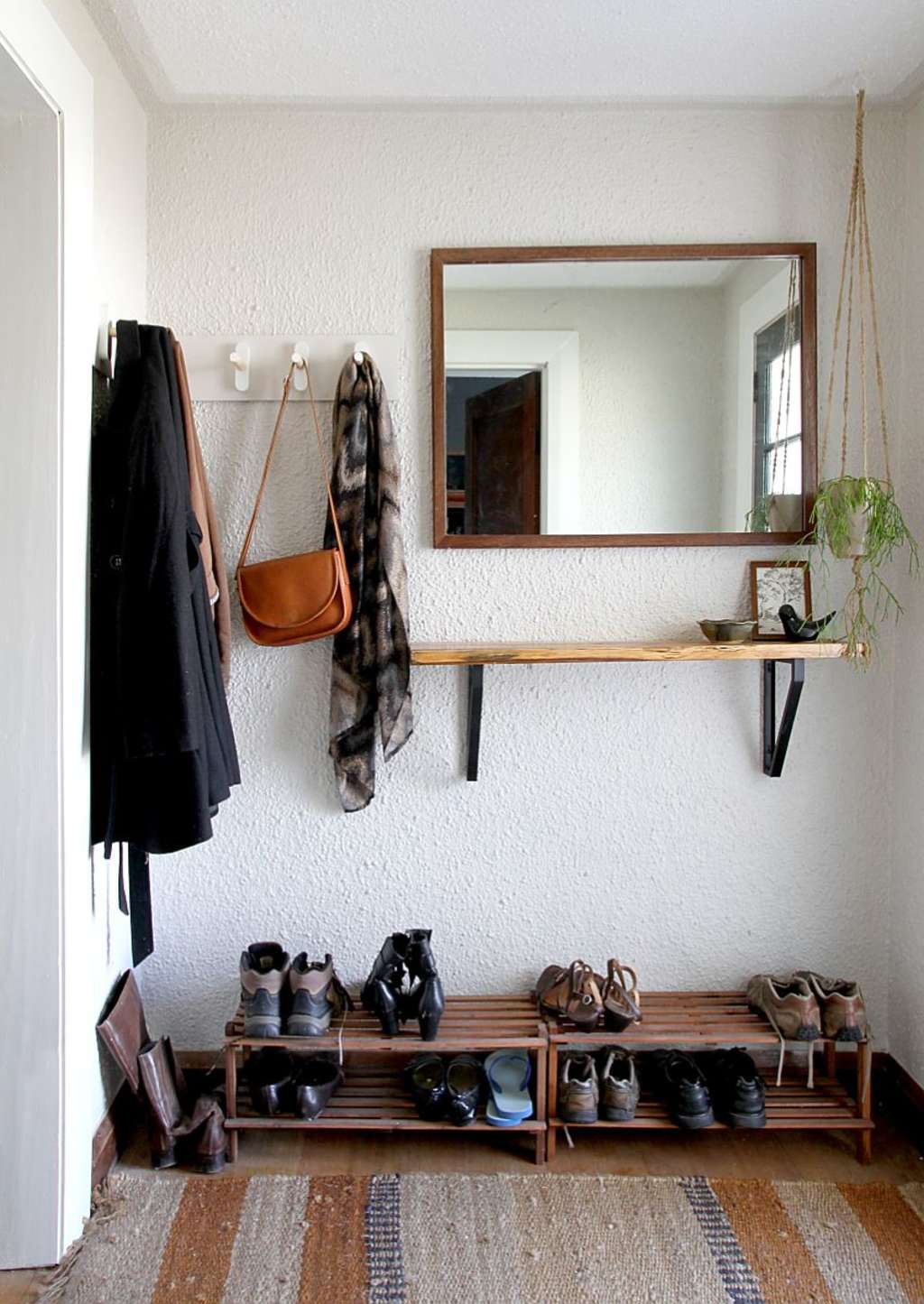 Entryways Without Closets: DIY Storage Projects + Ideas