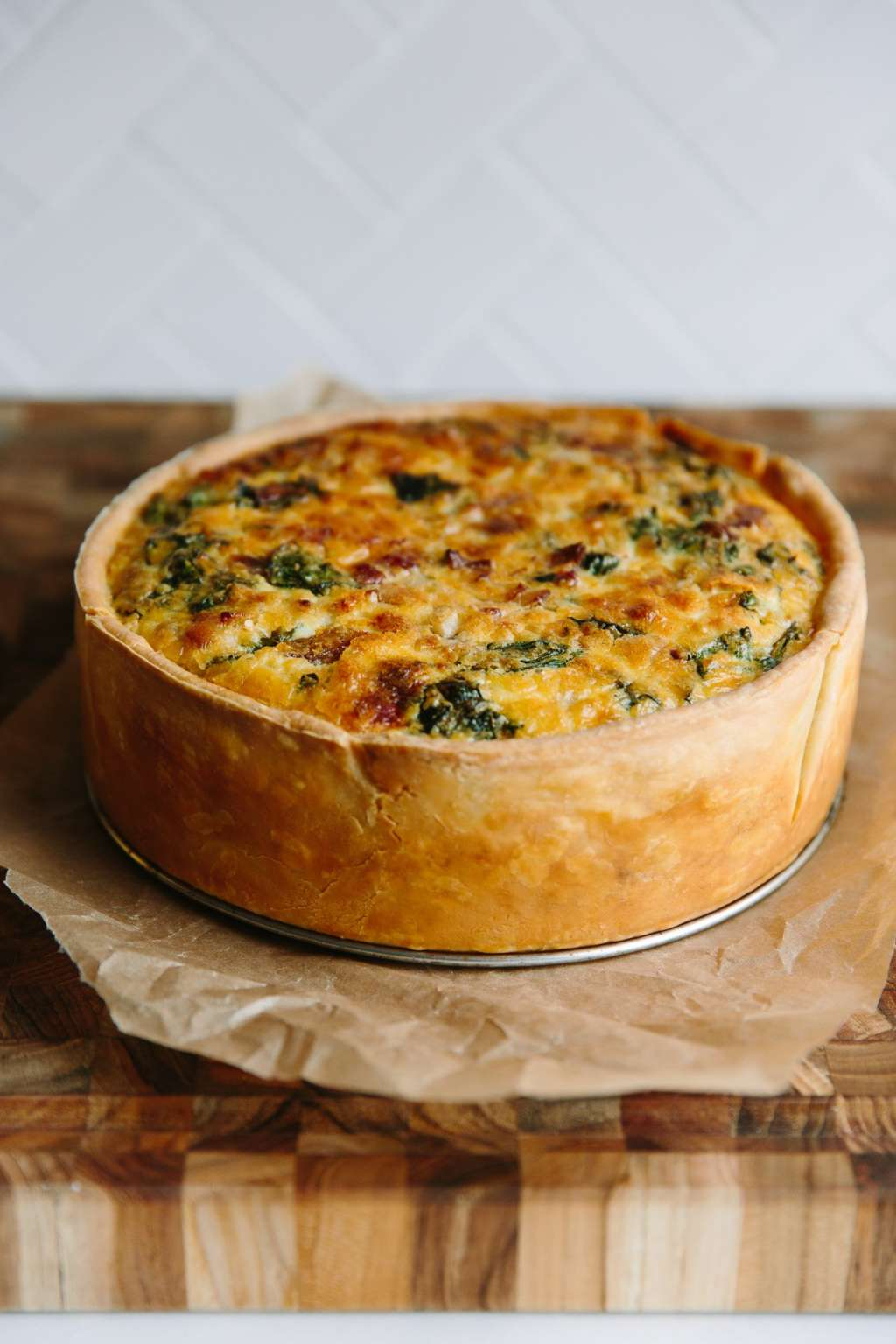 Recipe: Deep-Dish Quiche Lorraine with Swiss Chard and Bacon