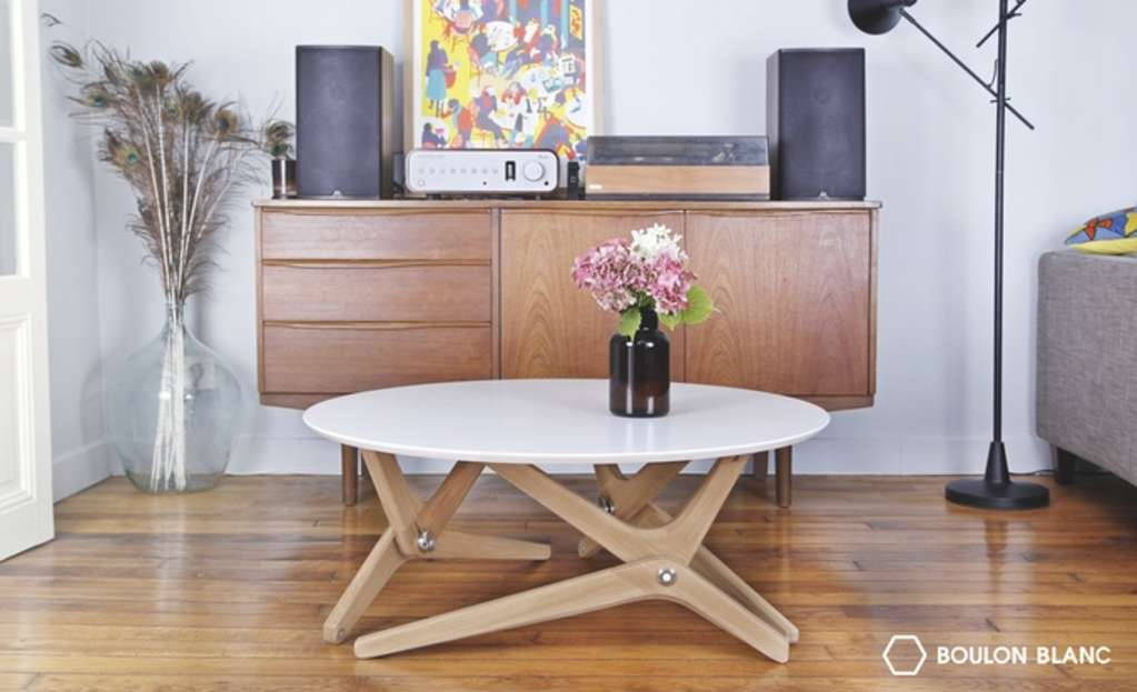 Watch this Coffee Table Convert to a Dining Table in One Move