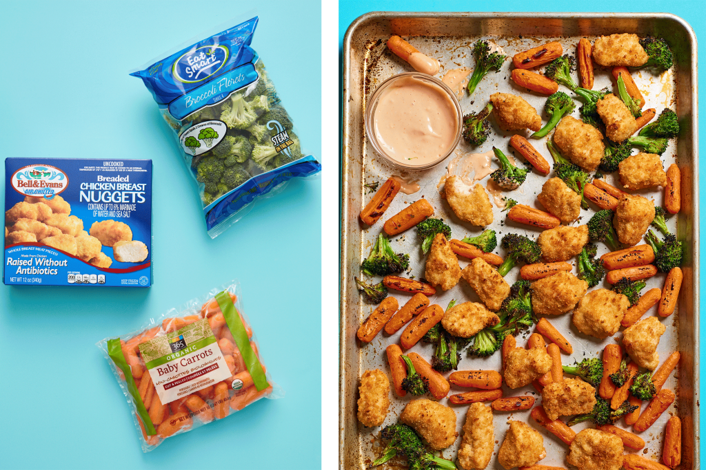 Sheet Pan Chicken And Broccoli With Drizzle Sauce Kitchn