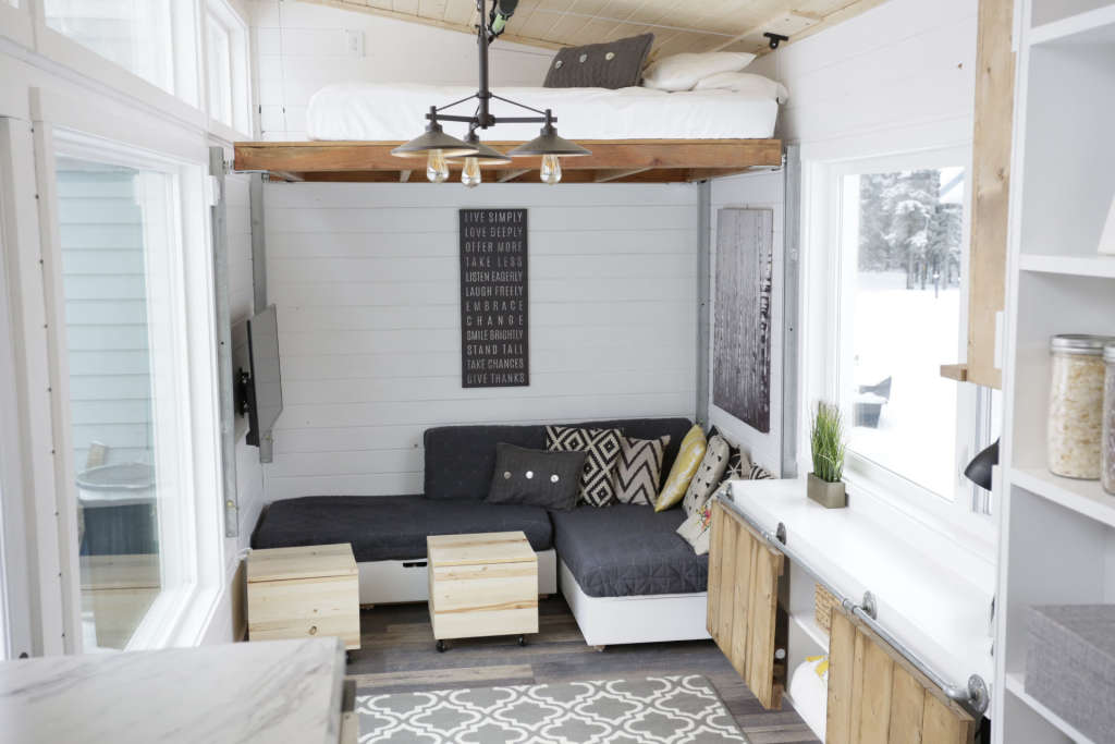A Tiny House with a Unique (& Clever!) Bedroom Solution