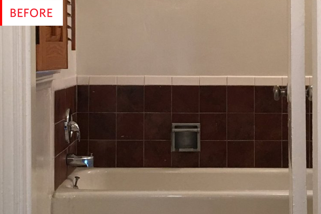 Vinyl Peel and Stick Tile Decals - Bathroom Remodel   Apartment Therapy