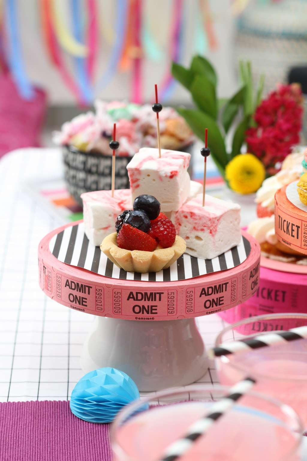4 Fun, Colorful Party Decorations to Make from Movie Tickets