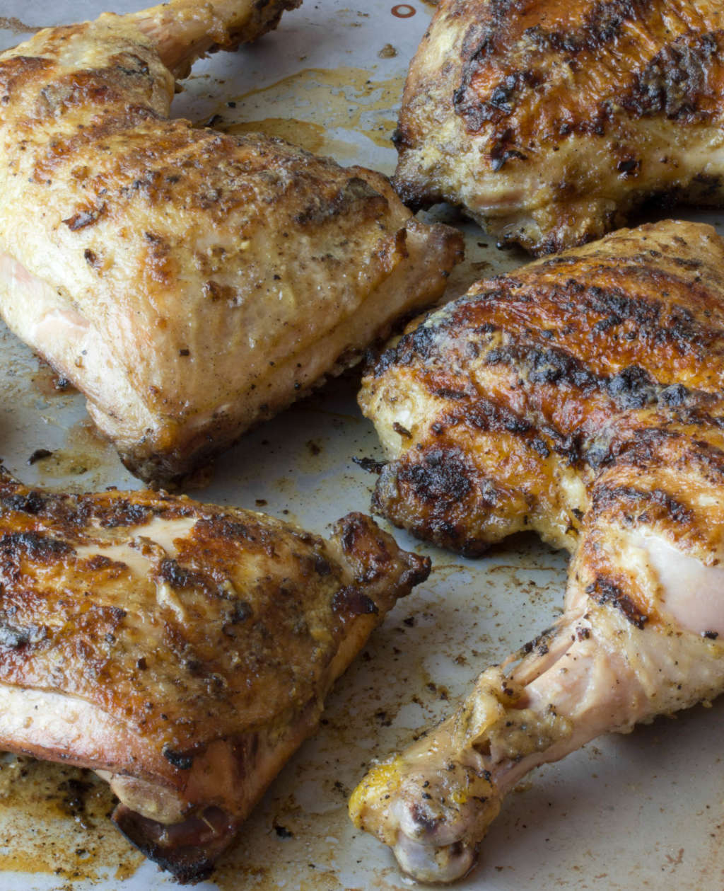 Grill Recipe: Grilled Chicken Legs with Dijon & White Wine Glaze