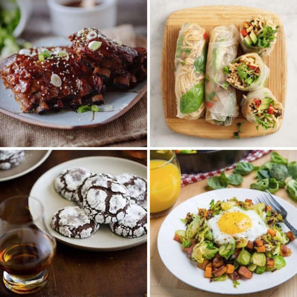 Crock Pot Asian-Style Ribs & Peanut Soba Spring Rolls