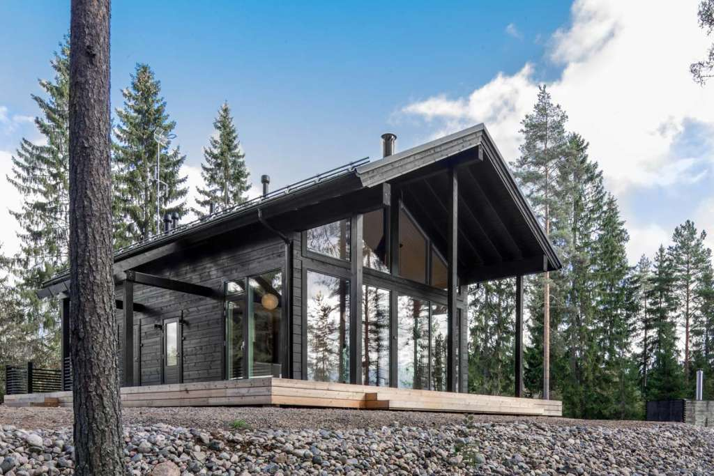 These Modern Finnish Cabins Are Actually Prefab Homes