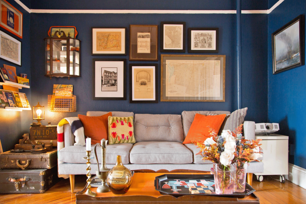 A Tiny Townhouse in Brooklyn for Two History Lovers