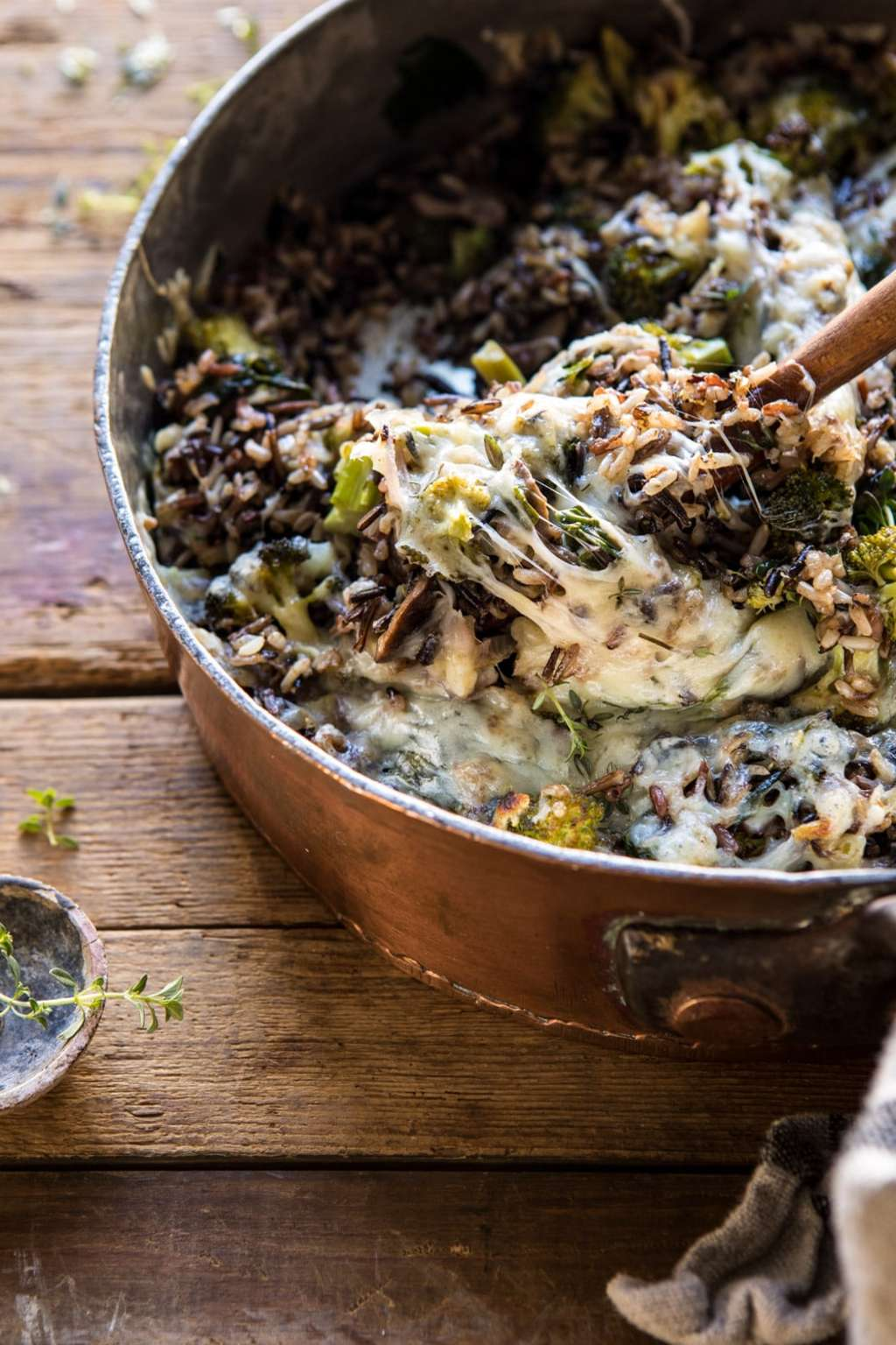 This Cheesy Broccoli Wild Rice Casserole Is Pure Comfort