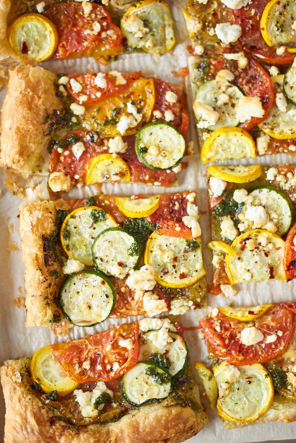 Fast & Fancy Vegetable Pesto Tart