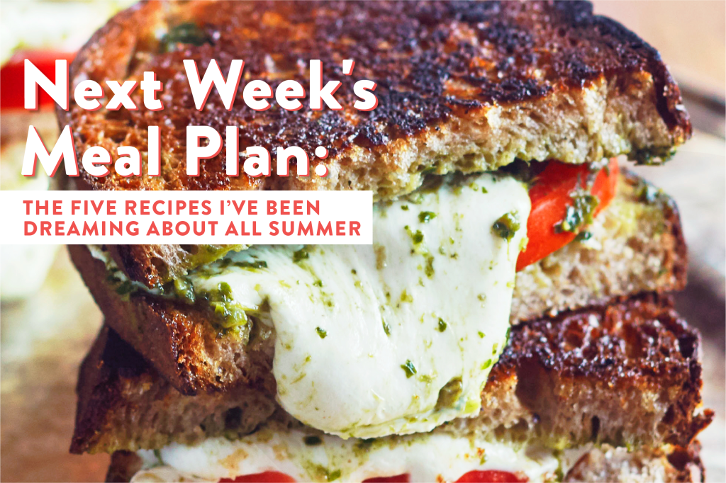 Next Week's Meal Plan: The 5 Recipes I've Been Dreaming About All Summer