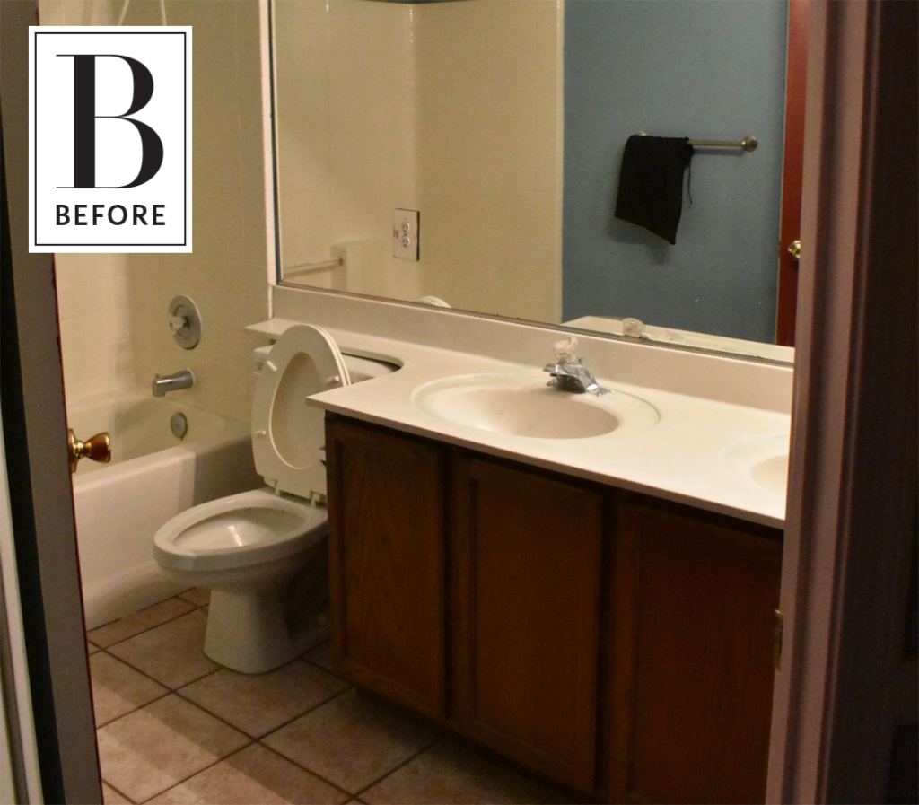 Before & After: 3 Days, $200 and a Bold New Bathroom Look