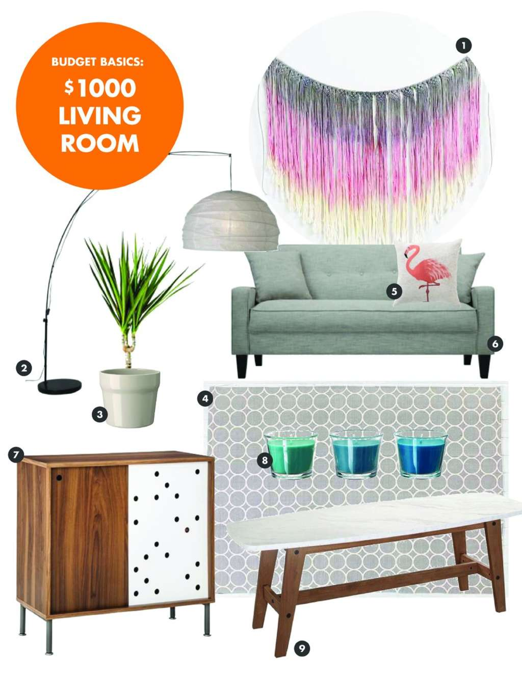 Budget Basics: A Great Looking Living Room Under $1000