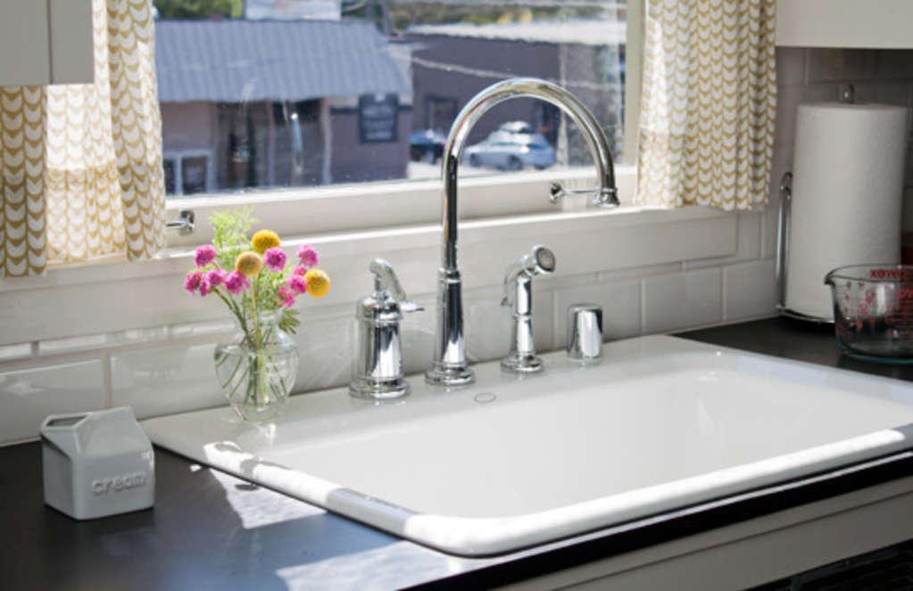 all about drop in kitchen sinks kitchn. Black Bedroom Furniture Sets. Home Design Ideas