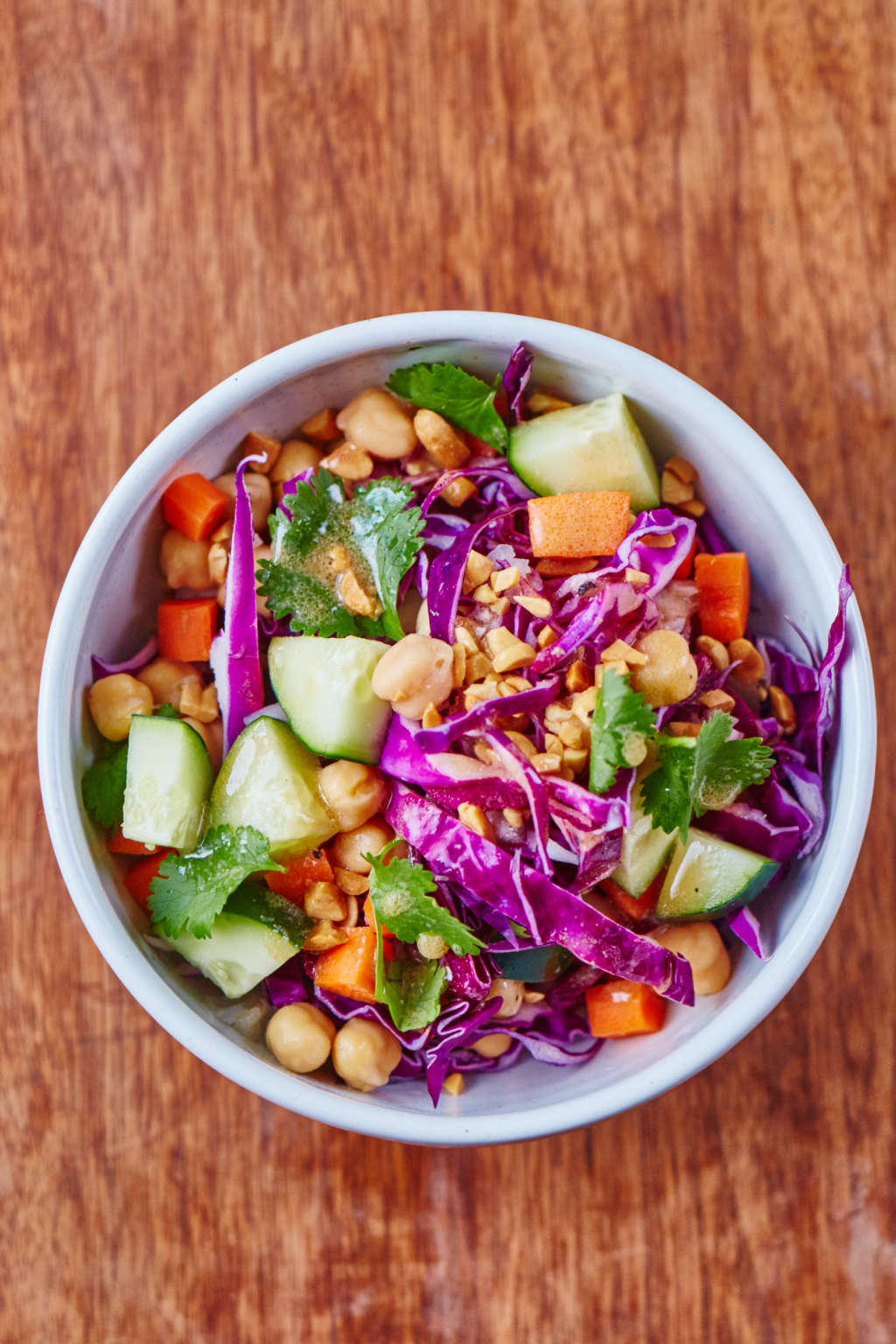 This Chickpea Salad Is How You Eat Veggies for Dinner