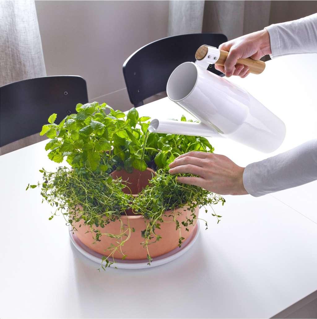 Kitchen Bench Herb Garden: A Self-Watering Herb Planter That's Also A Centerpiece
