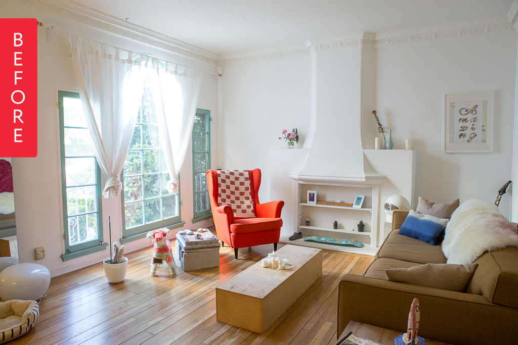 Before & After: Corinna & Eugenia's Playful Living Room
