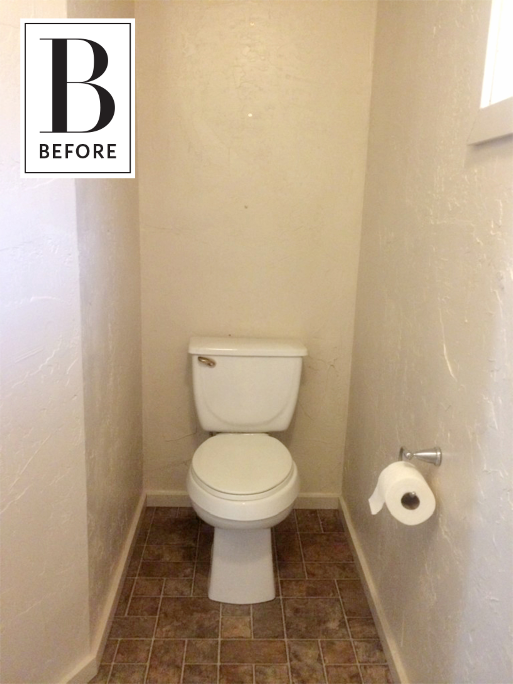 Before & After: A Bland Bathroom Gets a Farmhouse Makeover for $400