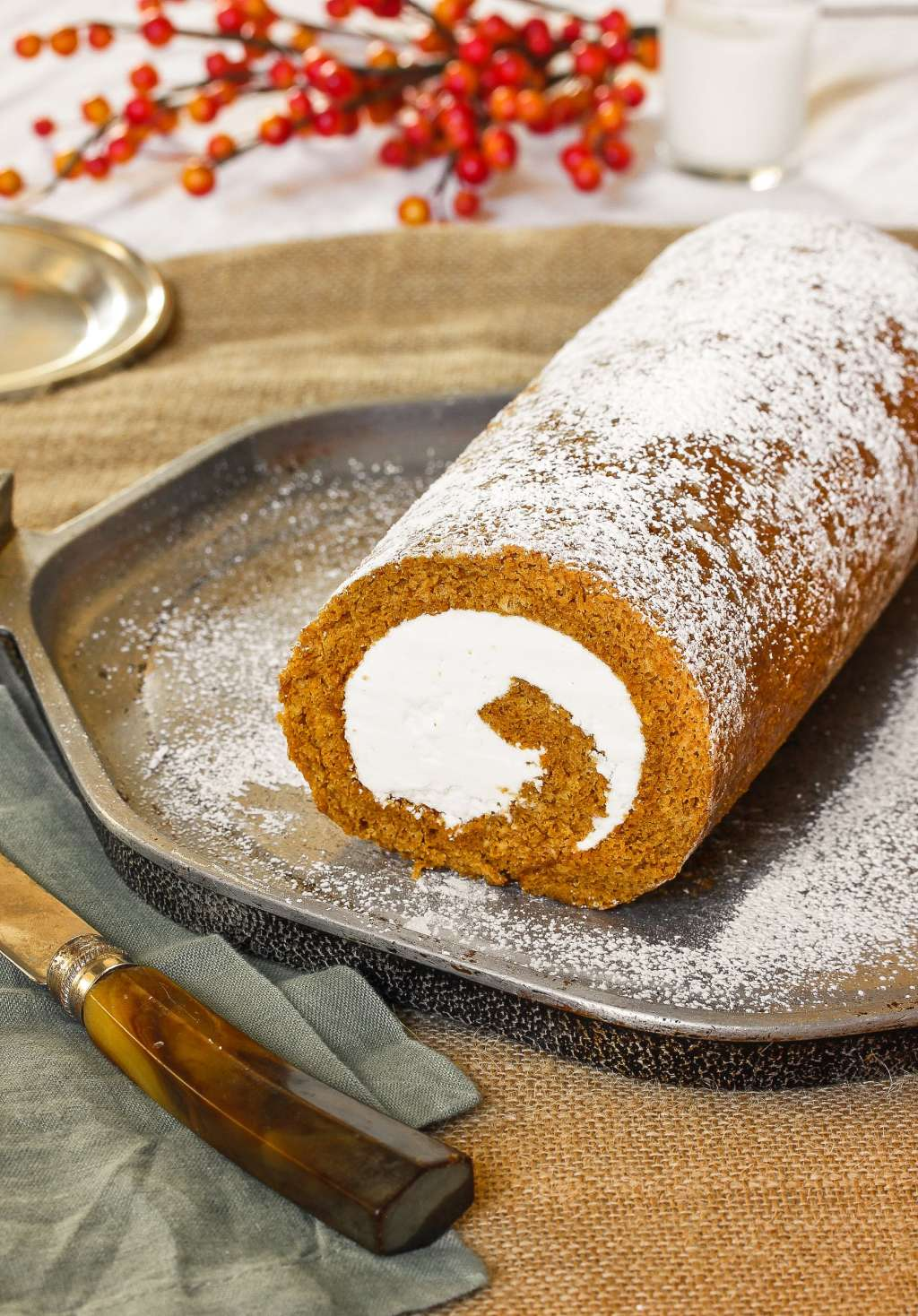 Recipe: Pumpkin Swiss Cake Roll with Hazelnut Buttercream