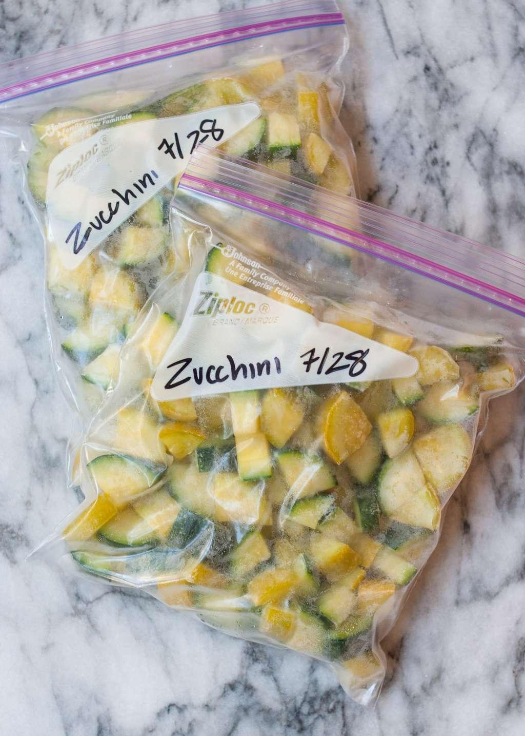 how to freeze zucchini  kitchn