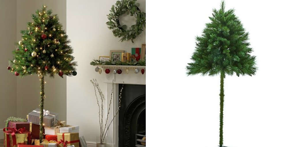 Half Christmas Trees Are For Sale For Cat Owners | Apartment Therapy