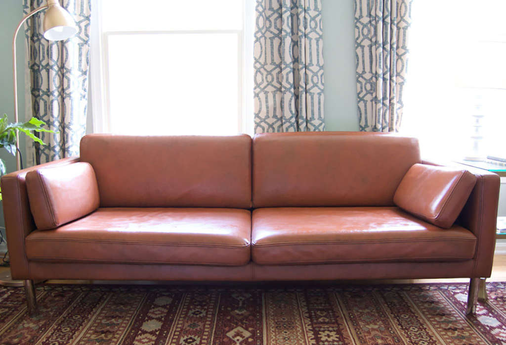 Diy Project Results Can You Paint A Leather Sofa