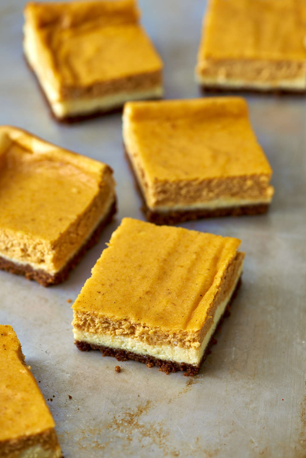 Super-Simple Make-Ahead Pumpkin Cheesecake Bars